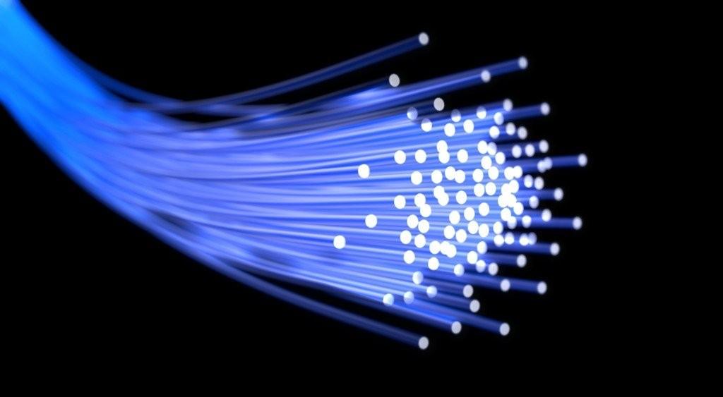 Glasfasern ermöglichen Datenübertragung in Höchstgeschwindigkeit.